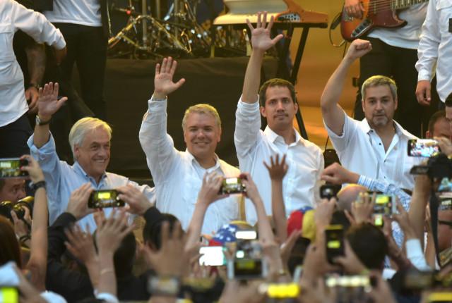 Resultado de imagen para presidentes en cucuta concierto venezuela